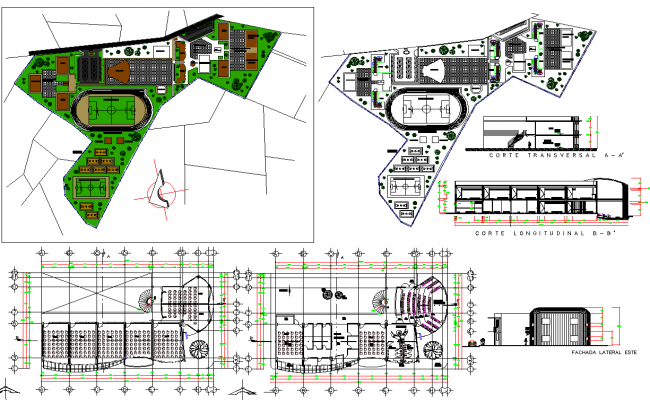 Classroom and auditorium hall of college details dwg file