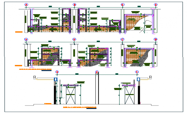 Classroom module details of two flooring school dwg file