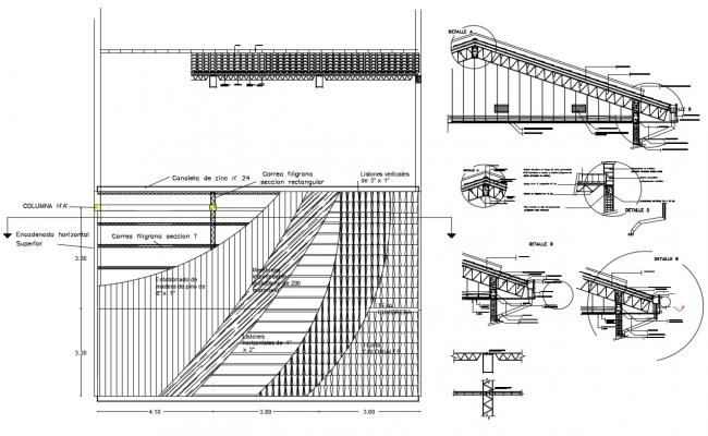 Clay Roof Tiles CAD Drawing