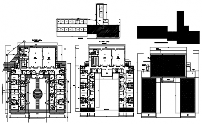 Clinic Building plan with detail dimension in dwg file