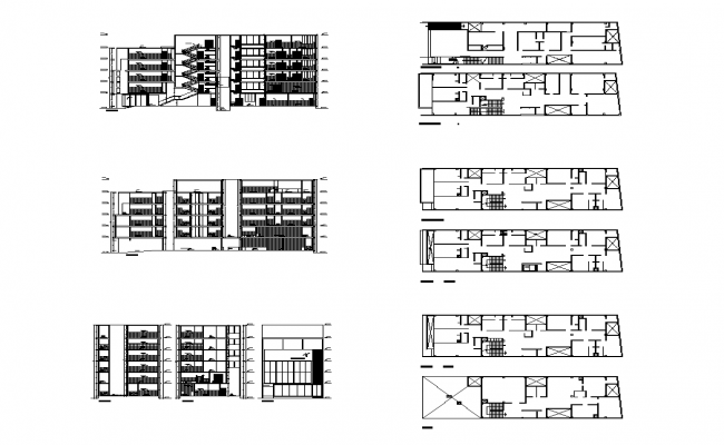 Clinic Building structural plan detail elevation 2d view autocad file