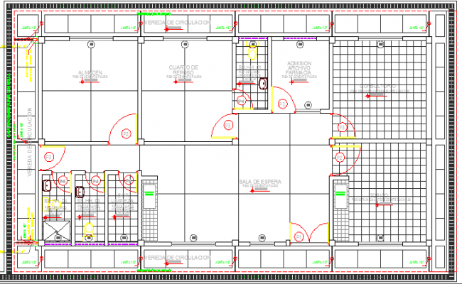 Clinic Project Structure Details dwg file
