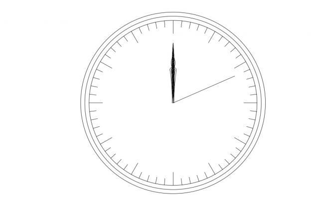 Clock CAD Block Free Download