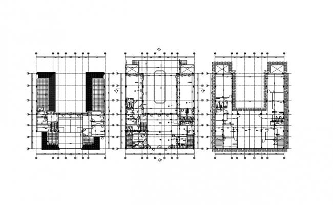 Club Development Floor Plan With Working Drawing AutoCAD File
