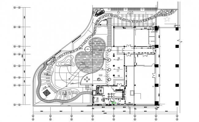 Club House Design AutoCAD Drawing