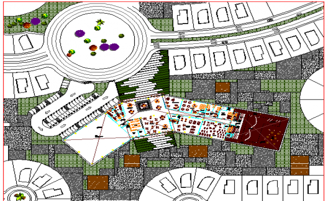 Club House Design and Site Plan dwg file