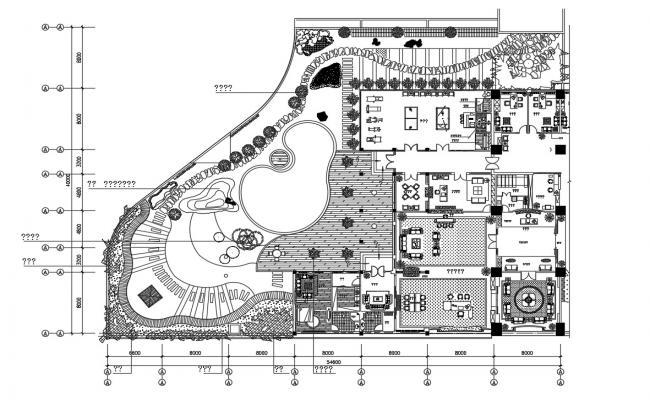 Club House Furniture Layout Plan