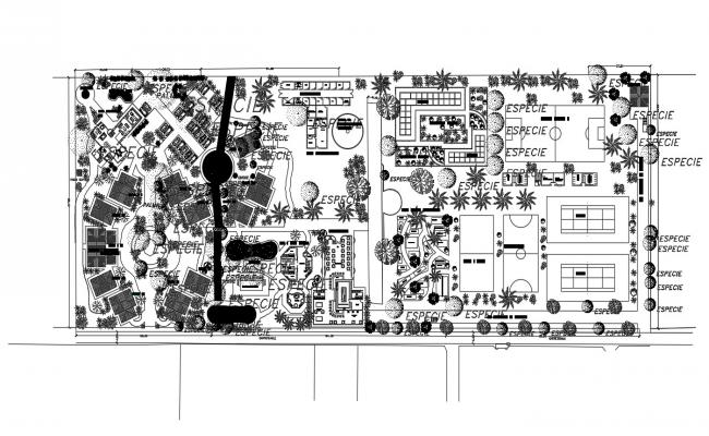 Club House Plan AutoCAD File