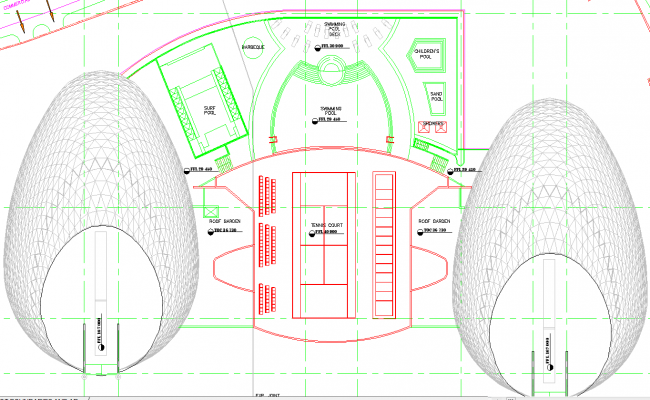 Club house architecture floor plan