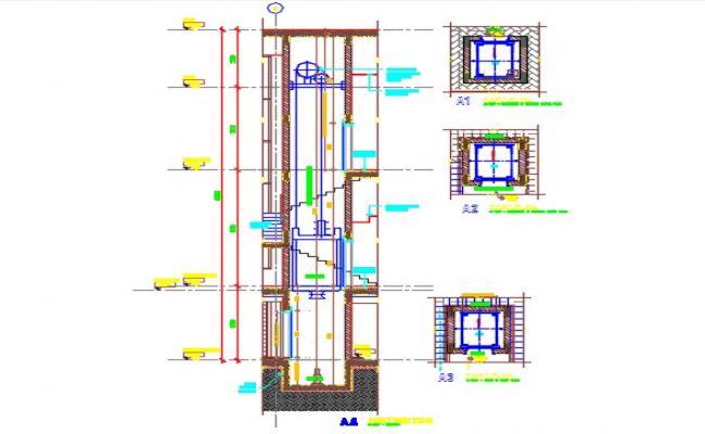 Club house lift detail