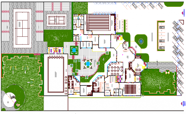 Club house site plan and club house architecture design for Websites to design houses for free