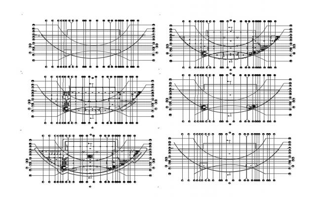 Club house staircases constructive sectional details dwg file