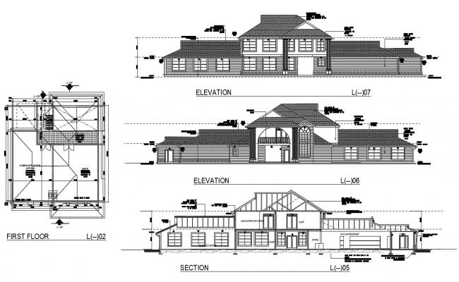 Clubhouse Plan CAD Drawing