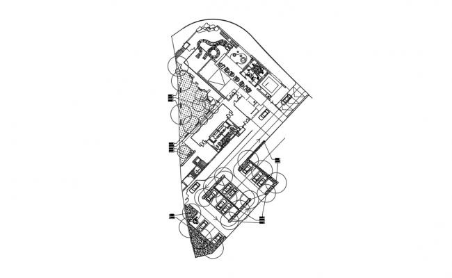 Clubhouse Plan In DWG File