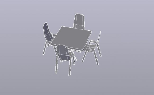 Coffee Table 3D Model In DWG File