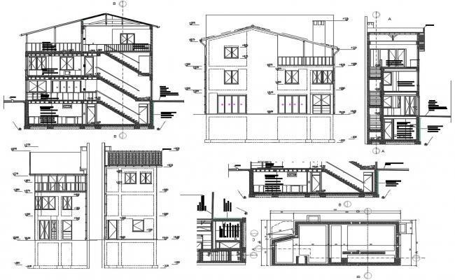 Coffee shop Design Concept CAD File