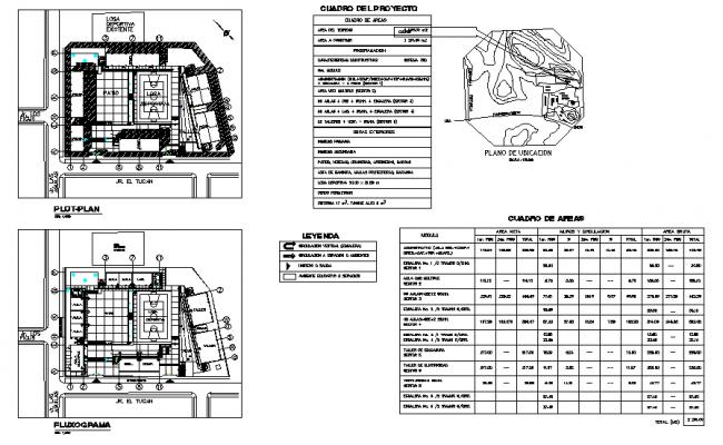 Collage plan detail dwg file