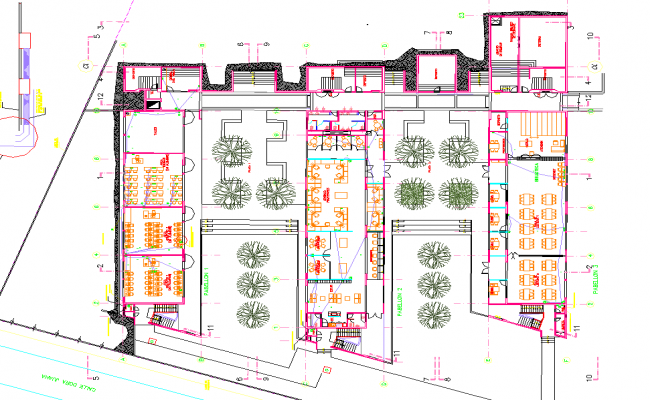 Lovely College Architecture Design And Layout Plan Dwg File