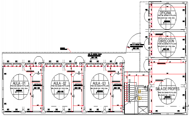 College Architecture Design and Structure Details dwg file