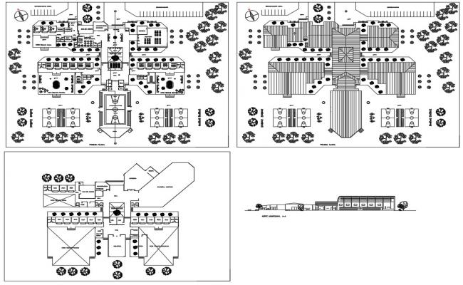 College Building Plan CAD File