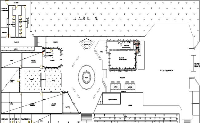 College Commercial plan detail dwg file