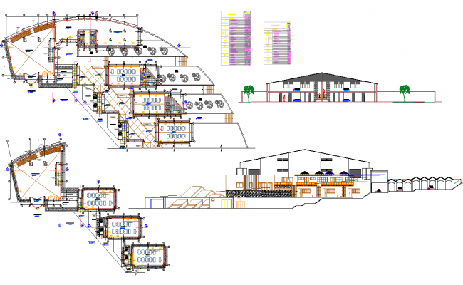 College Project detail dwg file