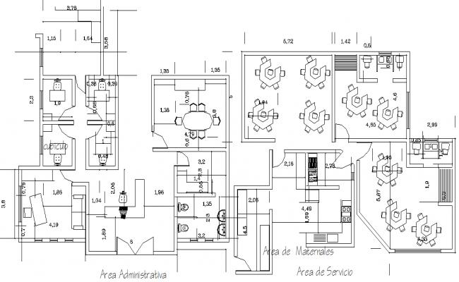 College plan detail dwg file
