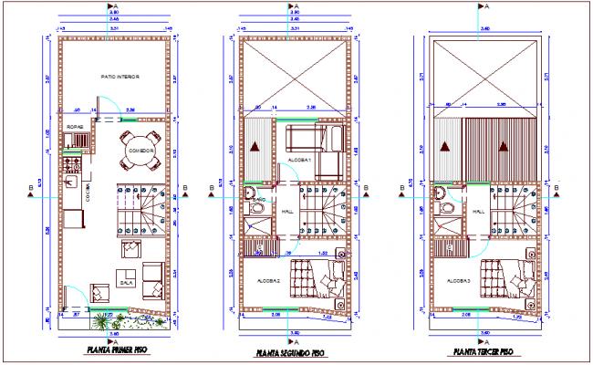 affordable housing development floor plan dwg file