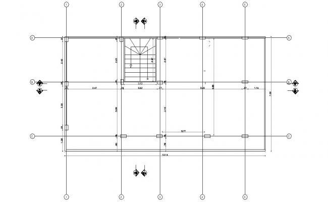 Column Design Plan AutoCAD Drawing