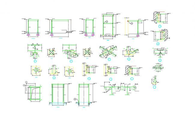 Column Foundation Design With Beam Section Design AutoCAD File