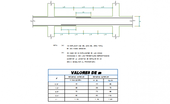 Column and beam detail dwg file