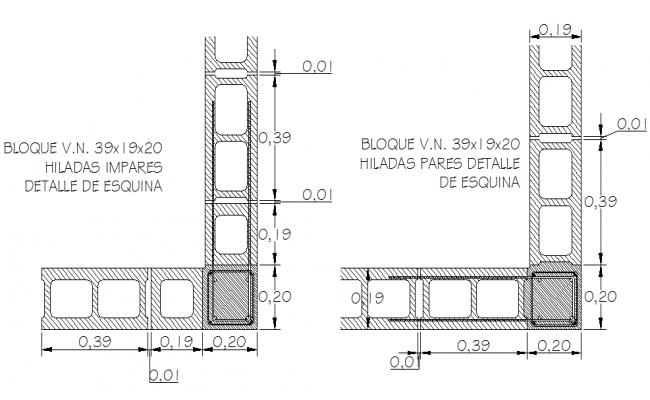Column and beam plan detail dwg file