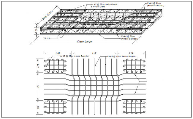 Column and floor slab monolithic connection detail dwg file