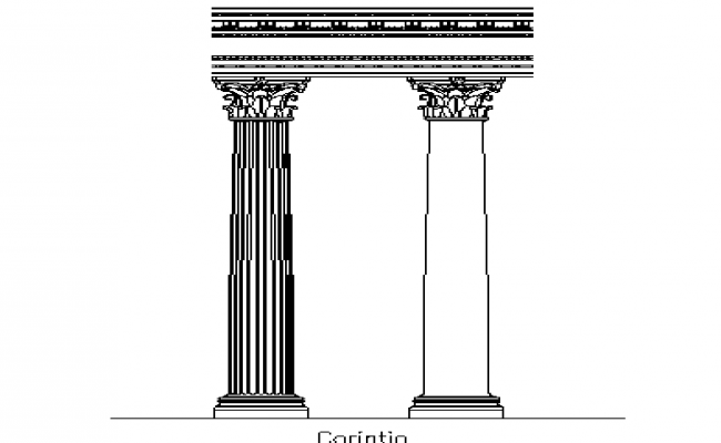 Column design traditional type details dwg file