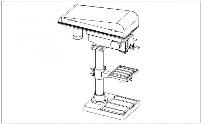 column drill machine details dwg file