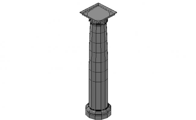 Column formwork details 3d