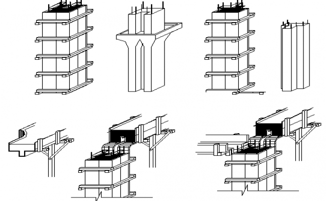 Column from work details dwg file
