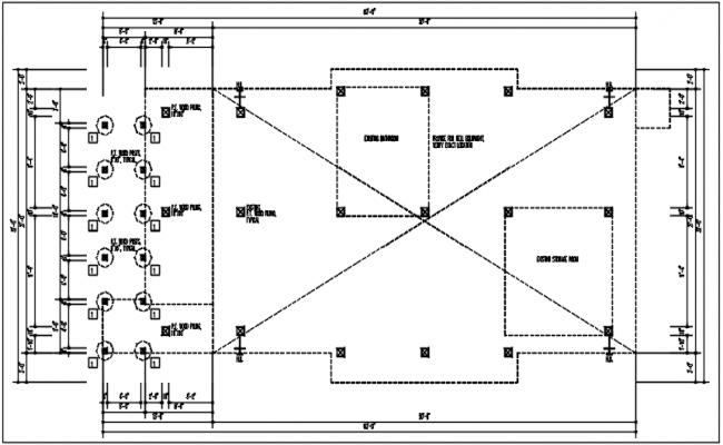 Column plan detail view dwg file