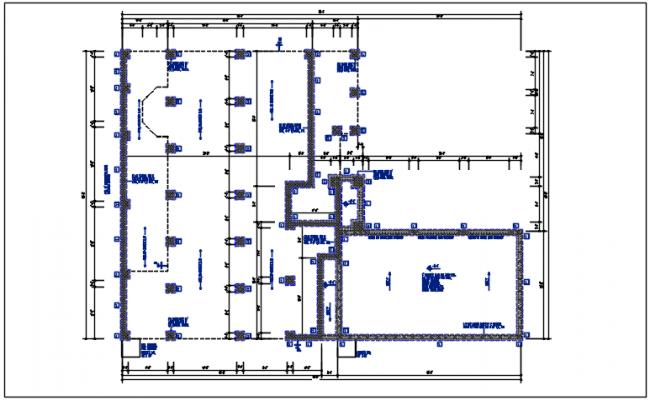 Column plan view detail dwg file