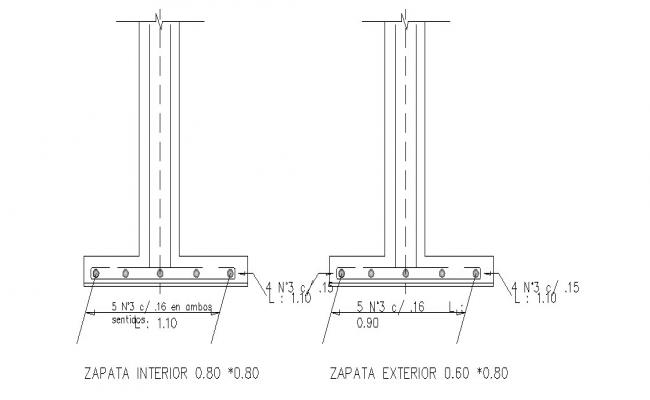 Column section cad drawing details dwg file