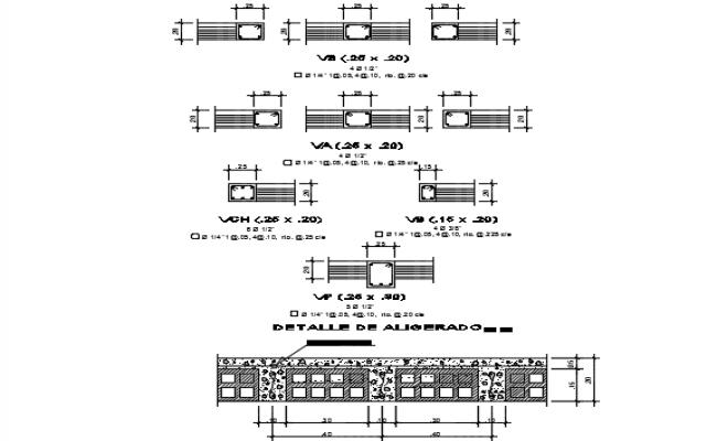 Column section detail dwg file