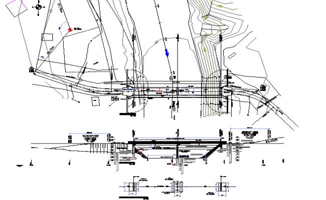 Column section plan detail dwg file