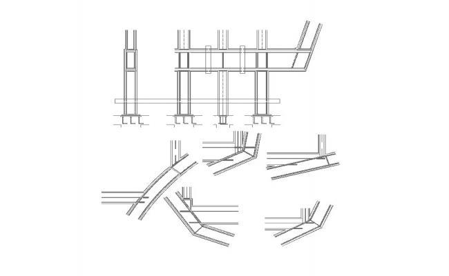 Column structure detail 2d view CAD construction block layout autocad file