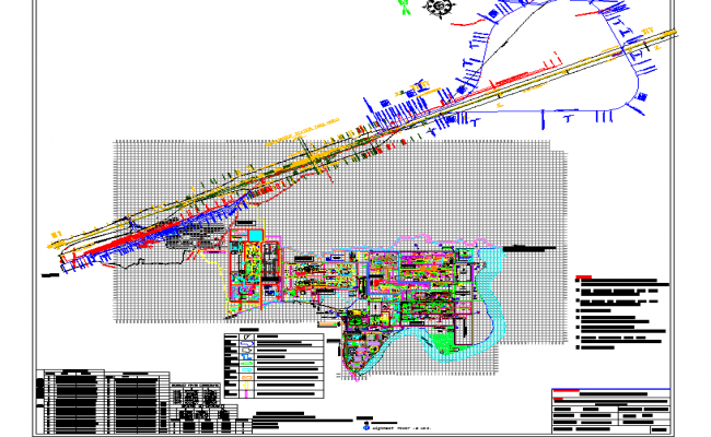 Combined Master Plan of Saraikela steel Industrial Project dwg file.