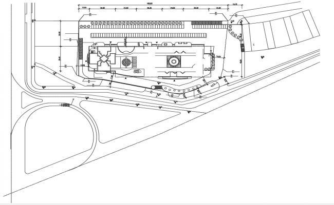 Commerce Area Landscape Plan CAD File