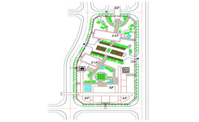 Commerce Building Area Design Landscape Plan
