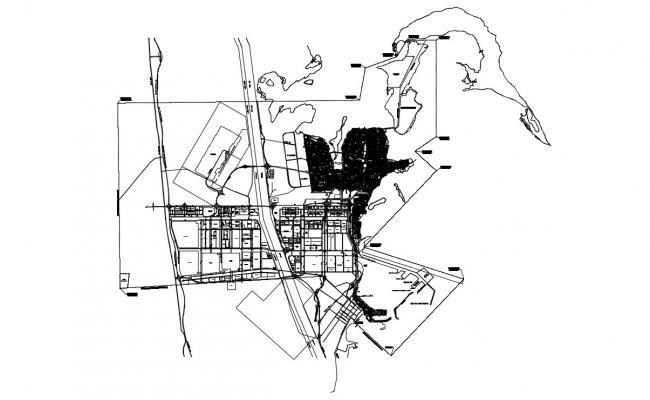 Commerce Building Area Landscape Key Plan Design 2d AutoCAD Drawing