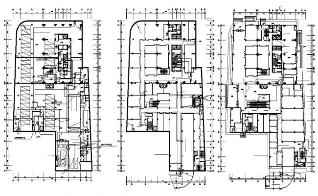 Commerce Building Construction Plan CAD Drawing