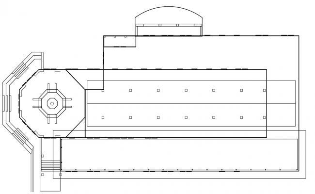 Commerce Building Elevation CAD File