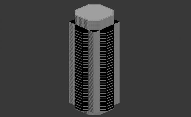Commerce Building Isometric view 3d max file